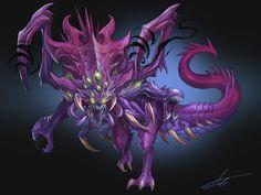 League of Legend Baron + cho'gath Mix Fanart, park jun seok Creature Concept Art, Creature Design, Eldritch Horror, Fantasy Monster, Monster Design, Lol League Of Legends, Anthro Furry, Fan Art, Dark Fantasy Art