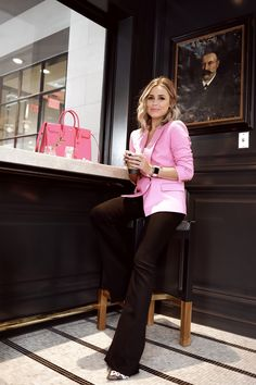 7f8ea98575b1ed Houston fashion blogger Elly Brown shares her pink blazer in her Instagram  round-up Ladies