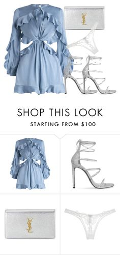 """ZARA."" by eve-lou ❤ liked on Polyvore featuring Zimmermann, Stuart Weitzman, Yves Saint Laurent and La Perla"