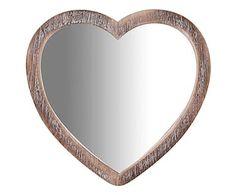 Specchio da parete in legno grigio, 45x45x2 cm