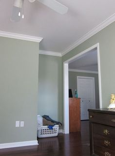benjamin moore saybrook sage images -accent wall color with a creamy white to compliment on the opposing three walls. Kitchen Paint Colors, Bedroom Paint Colors, Paint Colors For Home, Wall Colors, Sage Paint Colors, Sage Green Paint, Sage Green Walls, Paint Walls, Sage Color