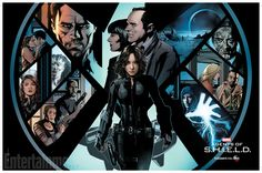 Inhumans, the government, relationship changes, a new villain — it's all part of Agents of S.H.I.E.L.D.'s third season, and it's all representedin EW's exclusive first look at the never-before-seen art which pays a homage tothe well-known Secret Warrior comic coverfeaturing Quake. Fans attending WonderCon can grab the exclusive poster at the panel, and also by attending the cast signing.