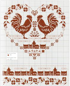 France - country - cocorico - point de croix - cross stitch - Blog : http://broderiemimie44.canalblog.com/