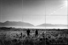 black and white rule of thirds photography | basic guideline of the rule of thirds is that