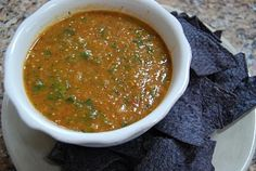 Pan-Roasted Chipotle Tomatillo Salsa Source: Adapted from Elly Says Opa, originally from Mexican Everyday by Rick Bayless