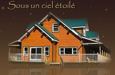 Tree houses, cottages, chalets in Woburn, Quebec, Canada. Located near Mont-Mégantic National Park. Bed And Breakfast, Tree Houses, Campsite, Quebec, Cottages, National Parks, House Styles, Home, Chalets