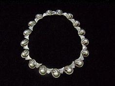 Necklace | Margot de Taxco.  Sterling silver.  Ca. 1950s, Mexico