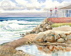 A New Coat, a California watercolor painting by Ed Kelly – California Watercolor Watercolor Logo, Watercolor Artists, Watercolor Paper, Watercolor Paintings, Art Prints For Sale, Fine Art Prints, Orange Farm, California Art, Coastal Art