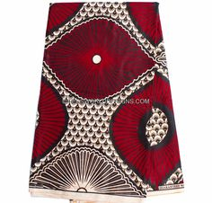 Red Ankara fabric/ quality African Skirt by TessWorldDesigns