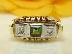ANTIK  585 sárga arany gyűrű 0.45 karátos turmalin es gyémántok G - VSI 0,05CRT kb 1900-bol, Gramm 3,90 gyűrű mérete kb 57 / 18,1 mm, CSERE ES ALKUDOZAS NEM ERDEKEL a kepek az ekszerol keszultes es sajat tulajdonom,fellaras ajanlatokal ne faradjanak az ar fix !!!!!