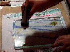 "Fast moving - fun video tutorial! Paper bags, plastic wrap and more! ""More Fun with the Gelli Plate by Judy Shea"""