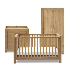 Silver Cross Portobello 3-piece Nursery Furniture Set ready for baby