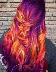 61 ideas hair color highlights stylists for 2019 - hair - Hair Styles Bold Hair Color, Cute Hair Colors, Pretty Hair Color, Beautiful Hair Color, Hair Dye Colors, Hair Color Highlights, Unique Hair Color, Exotic Hair Color, Bright Hair