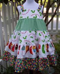 very hungry caterpiller dress