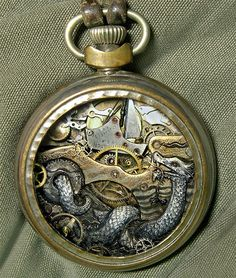 Steampunk Watch Part Sculptures by Sue Beatrice watches steampunk sculpture recyling assemblage