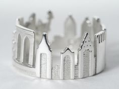 New York Cityscape  Skyline Statement Ring Size 5  by Shekhtwoman   i would love this as a bracelet!!