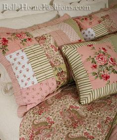 Shabby Vintage Chic Roses 6pc Quilt Set detail Shabby Vintage Chic ...