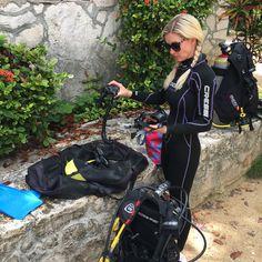 Scuba days (I almost look the part ) #scubadiving #scubasteve #travelmexico #cenotediving