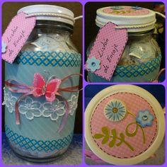 DESPLIEGAME... Hola! les traigo una idea para decorar sus frascos de vidrio o botes de plástico ya sea para usarlo como adorno, para tener organizadas sus co...