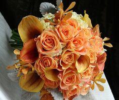 Orange & Creme Bouquet by Aria Style / www.ariastyle.com / https://www.facebook.com/AriaStyle