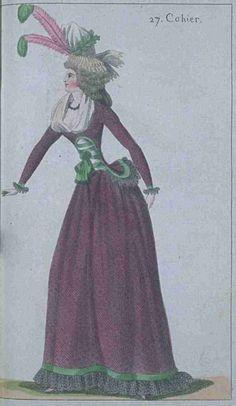 Journal de la Mode et du Gout, November 1790. I love this! Green and purple are…