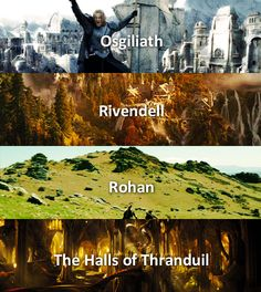 Out of the 4, where would you travel? The halls of Thranduil. Duh.