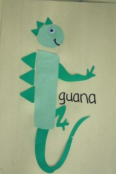 letter art activity i iguana - Google Search