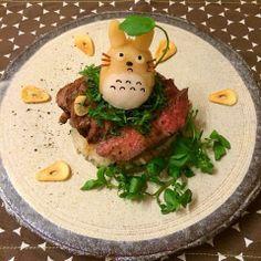 Totoro stake donburi
