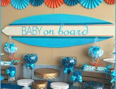 "Surfer Boy - Baby on Board / Baby Shower ""Baby On Board"" 