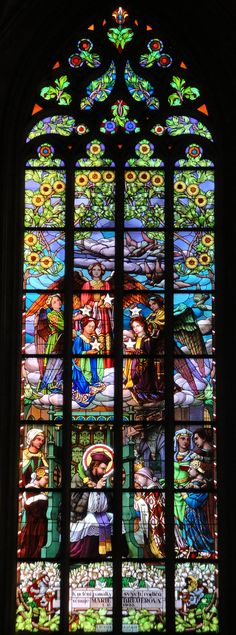 Another Stained Glass beauty from Saint Barbara's cathedral in Kutna Hora Czech Republic