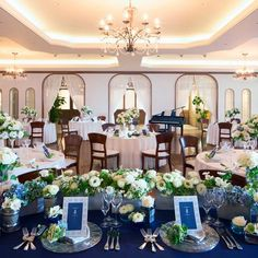 Blue Wedding, Wedding Table, Wedding Ceremony, Royal Blue And Gold, Blue And Silver, Banquet Tables, Decoration Table, Wedding Images, Table Settings