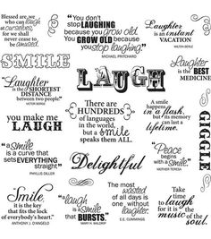 Fiskars Quotes Clear Stamps Laugh With Me