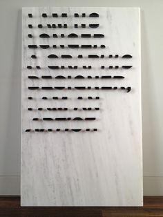 Harry Woodrow Halfhearted Mantra, 2011, pentalikon marble, acrylic