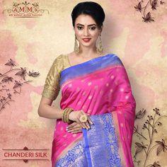 Add the super stunning festive attire to your wardrobe with this Chanderi from Chanderi Silk Saree, Silk Sarees Online, Festive, Chiffon, Sari, Collection, Fashion, Silk Fabric, Saree