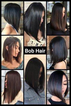 Haircuts Straight Hair, Angled Bob Hairstyles, Long Bob Haircuts, Medium Hair Cuts, Short Hair Cuts, Medium Hair Styles, Brown Hair Balayage, Hair Highlights, Front Hair Styles