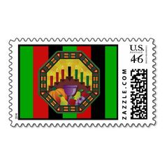 Embrace The Culture Kwanzaa Holiday Postage Stamps