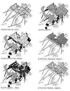 seed-s - Enric Miralles Architecture Tools, Architecture Graphics, Architecture Drawings, Contemporary Architecture, Alvar Aalto, Urban Analysis, Site Analysis, Map Diagram, Ecology Design