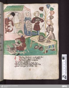Schachzabelbuch - Cod.poet.et phil.fol.2 Fol. 203r producing fur linings and…