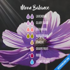 Moon Balance Essential Oils Diffuser Blend ••• Buy dōTERRA essential oils online at www.mydoterra.com/suzysholar, or contact me suzy.sholar@gmail.com for more info.