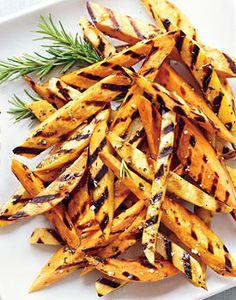 Sweet-Hot BBQ Tater Fries by Rick Browne, Bon Appetit #Potato #Fries #Grill         Sweet-Hot BBQ Tater Fries Recipe  at Epicurious.com