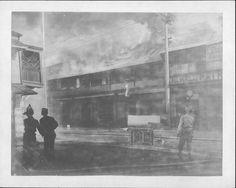 CHINATOWN FIRE...HONOLULU, HAWAII.........fires were set in Downtown Honolulu to rid the area of suspected Bubonic Plague, 1900