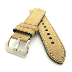 Burlywood Textured Crazy Horse Leather Watch Strap (316L Steel, 22mm, 24mm) #CozyAccessories