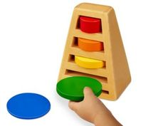 Size Sorting Puzzle Tower - Our all-wood puzzle is great for hands-on exploration of size and color!