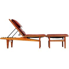 "oak ""long chair"" by Hans Wegner  Denmark  1954"
