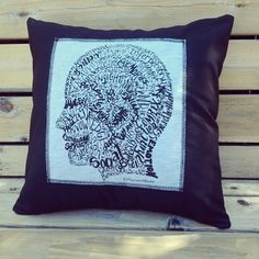 Psychologists pillow! Take it along with you to therapy as a trusty friend while you tell your problems to a complete stranger. Psychology calligram word art typography pillow slip cover by Joni James only at CalligramORama
