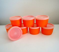 Vintage Tupperware Snack Cups or Snack Containers with by KimBuilt, $12.50