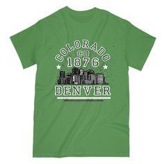 Colorado CO 1876 Denver Skyline T-shirt