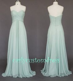 Grey Long Chiffon Bridesmaid Dress Cheap Mint Coral Peach Red Grey Black Prom/Homecoming/Party/Cocktail Dress Wedding Party Dress 2014 on Etsy, $75.99
