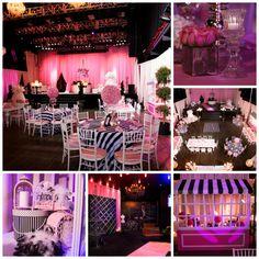REAL BAT MITZVAH...Hailey's Pink Paris BatMitzvah-beautiful pink & black decor #mitzvahmonday #batmitzvah