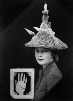 Ceremonial Hat for Eating Bouillabaisse, 1936 (b/w photo) by Eileen Agar (private collection) / Estate of Eileen Agar Lee Miller, Finishing School, Chichester, Man Ray, Pablo Picasso, Tamara Lempicka, Hats In The Belfry, Joseph, Eugenia Loli